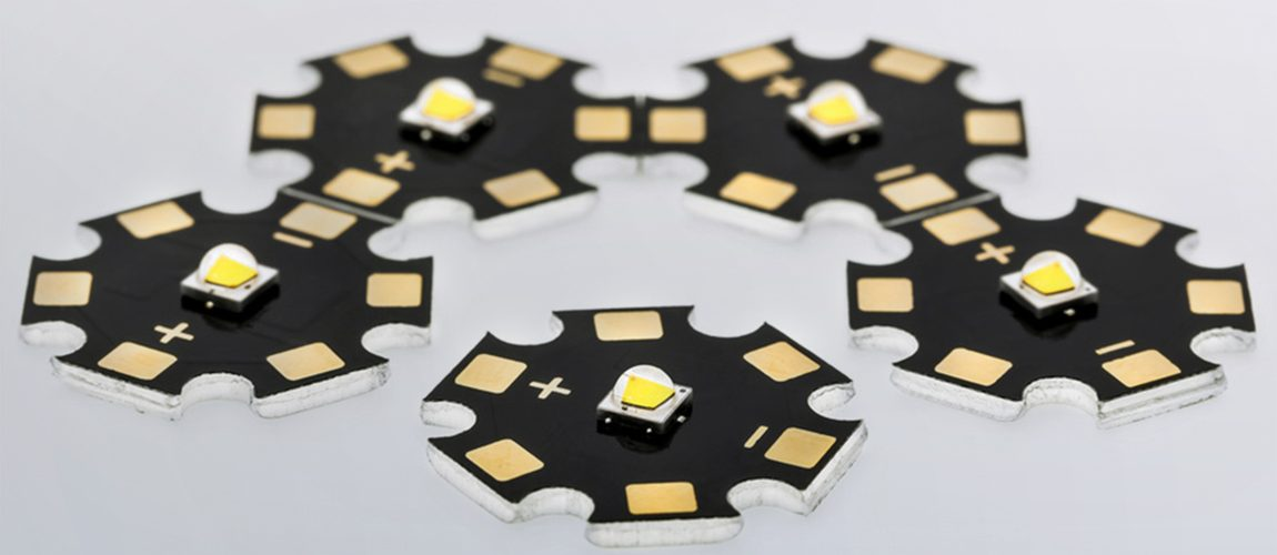 High Power SMD LEDs Assembled on Aluminium Star PCB, Commercial
